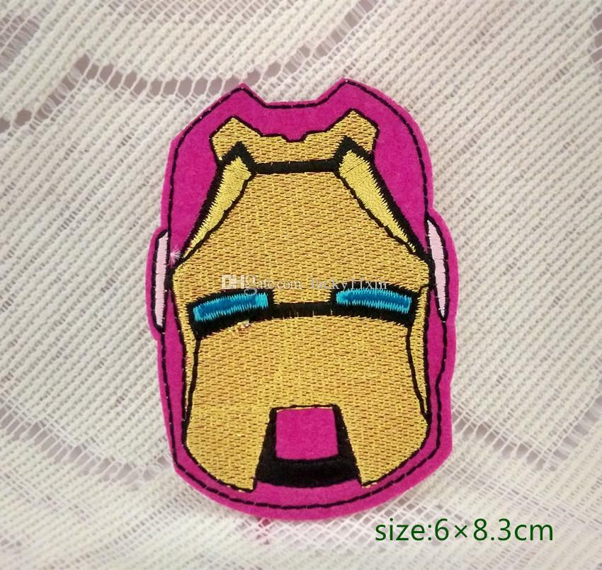 Man Iron man EMBROIDERED PATCH Marvel Comic iron/sew on patch masked face Cap Bag Shirt Kids Toy Gift baby Decorate Individuality 10pc