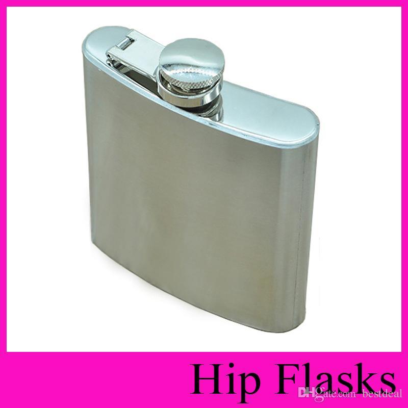 Aço inoxidável Hip Flask 4 oz 5 oz 6 oz 7 oz 8 oz 10 oz Portátil Hip Garrafas Ao Ar Livre Flagon 6 Onça Uísque Stoup Vinho Pot Garrafas De Álcool QUENTE 2018