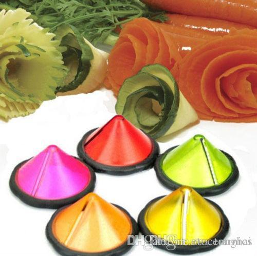 Gemüse-Garnierwerkzeug H210264 des Edelstahl-Karotten-Gurken-Lockenwicklers Julienne Maker