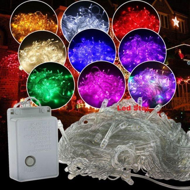 AC 110V / 220V 10m LED 스트링 조명 100LEDs 멋진 볼 조명 장식 크리스마스 파티 축제 반짝 문자열 램프 환 10Colors