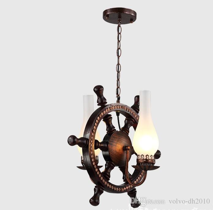 Europejski styl litego drewna żelazo, restauracja storowa, żyrandol, pręt oryginalny światło, kawiarnia, balkon lampa LLFA