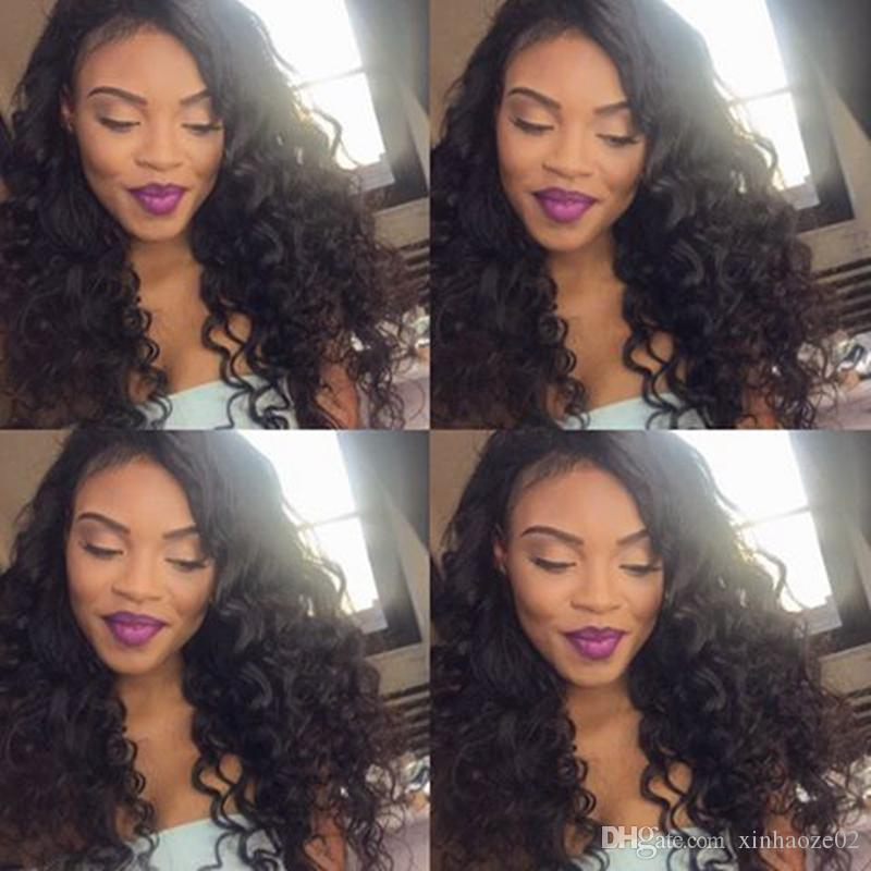 Glueless Full Lace Human Hair Wigs Big Curly Silk Top Lace Front Wigs for Black Women