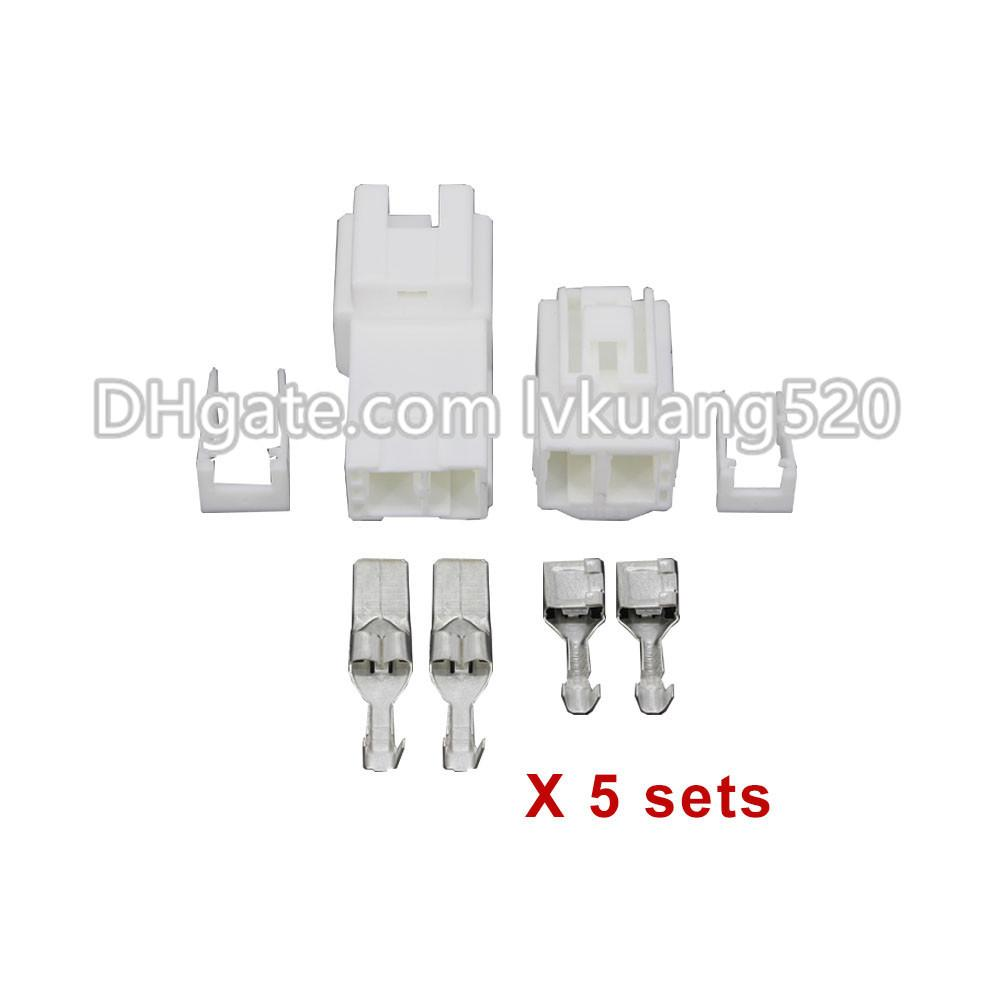 5 Sets 2 Pin 7.8mm Female And Male Auto Wire Electronic Connector Plug With Terminal DJ7025Y-7.8-11/21