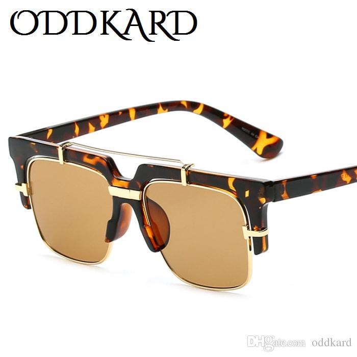 ODDKARD DTC سلسلة النظارات الشمسية الذكية عارضة للرجال والنساء العلامة التجارية مصمم شبه بدون شفة مربع النظارات oculos دي سول UV400 OK23179