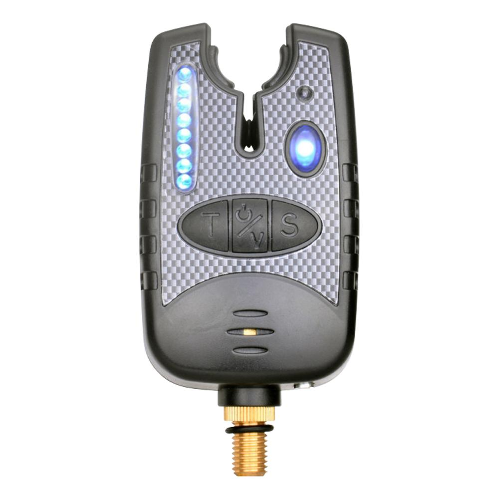 دغة الصيد إنذار مع 8 الصمام الخفيفة وتعديل الصوت نغمة حساسية قابلة للتعديل للملحق قصبة الصيد