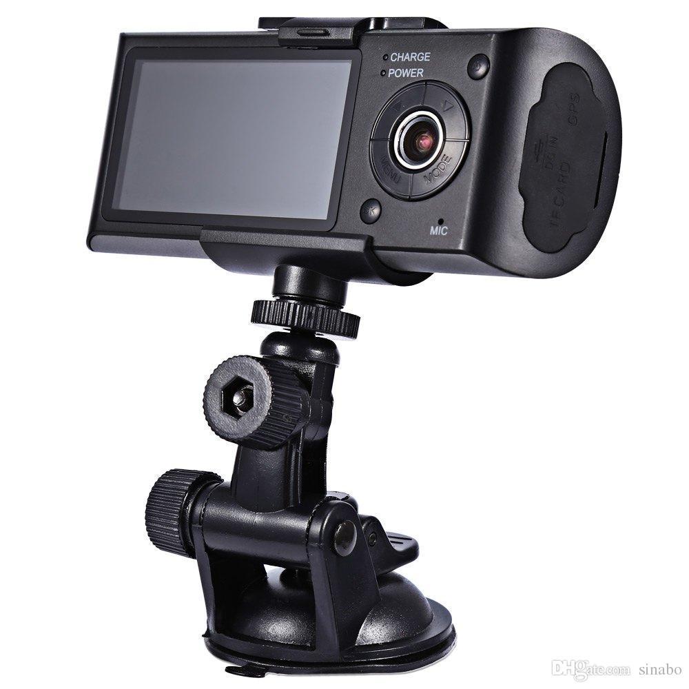 سيارة dvr hd سيارة كاميرا dvr gps مسجل المزدوج عدسة كاميرا داش كاميرا مع الخلفية 2 سيارة عرض لوحة ir led للرؤية الليلية شحن مجاني