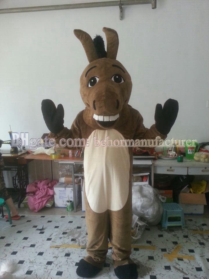 Neues Qualitäts-braun Esel Plüschmaskottchen-Kostüm-freies Verschiffen, reizender Esel Maskottchen erwachsene Art Rabatt.