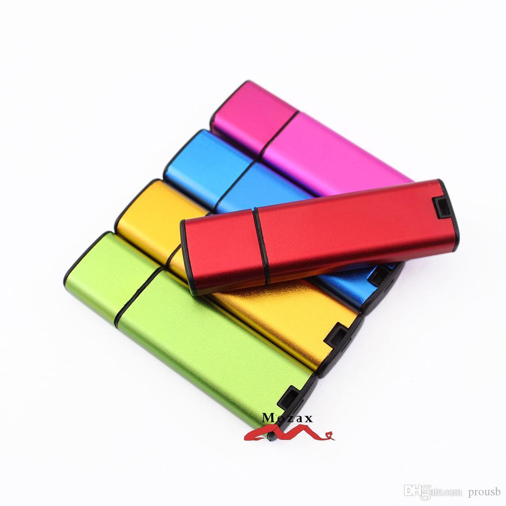 Free Laser Engraved Logo 10PCS 128MB/256MB/512MB/1GB/2GB/4GB/8GB/16GB Metal Stick Memory USB Flash Drive 2.0 Pendrive 100% True Storage