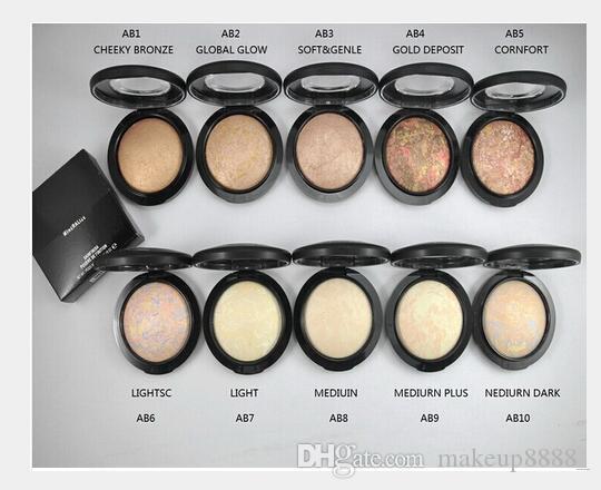 LIVRAISON GRATUITE! 2018 nouveau Maquillage de haute qualité MINERALIZE POUDRE DE FINITION SKINFINISH 10G 10 Couleur différente (10pcs / lot)