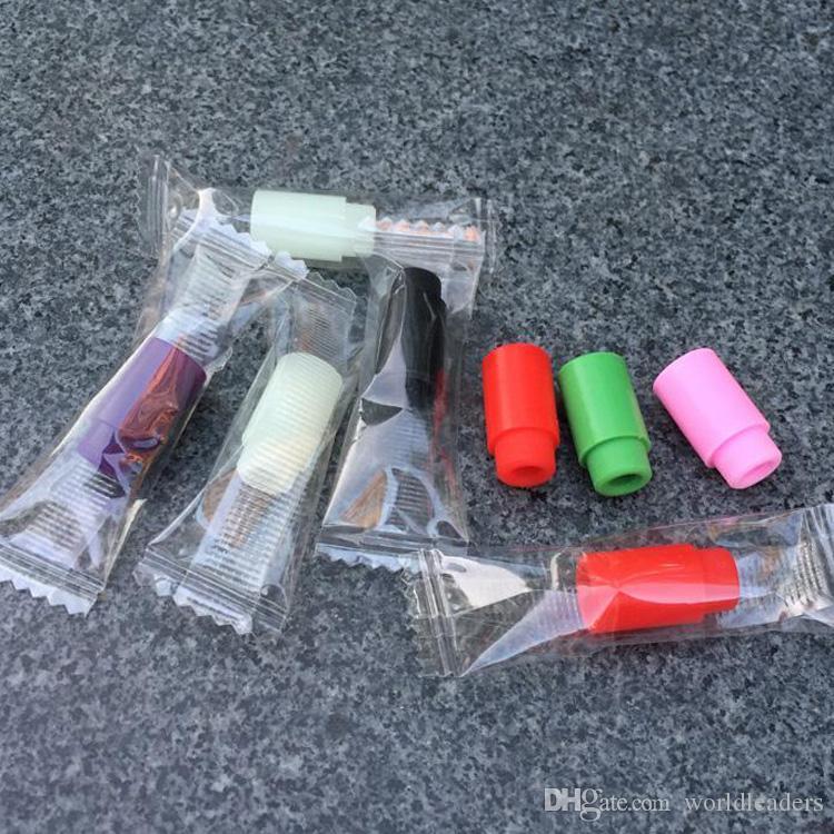 Siliconen Mondstuk Cover Rubber Druppel Tip Silicium Wegwerp Kleurrijke Test Tips Cap met Individueel Pakket voor 510 Thread Atomizer Vape