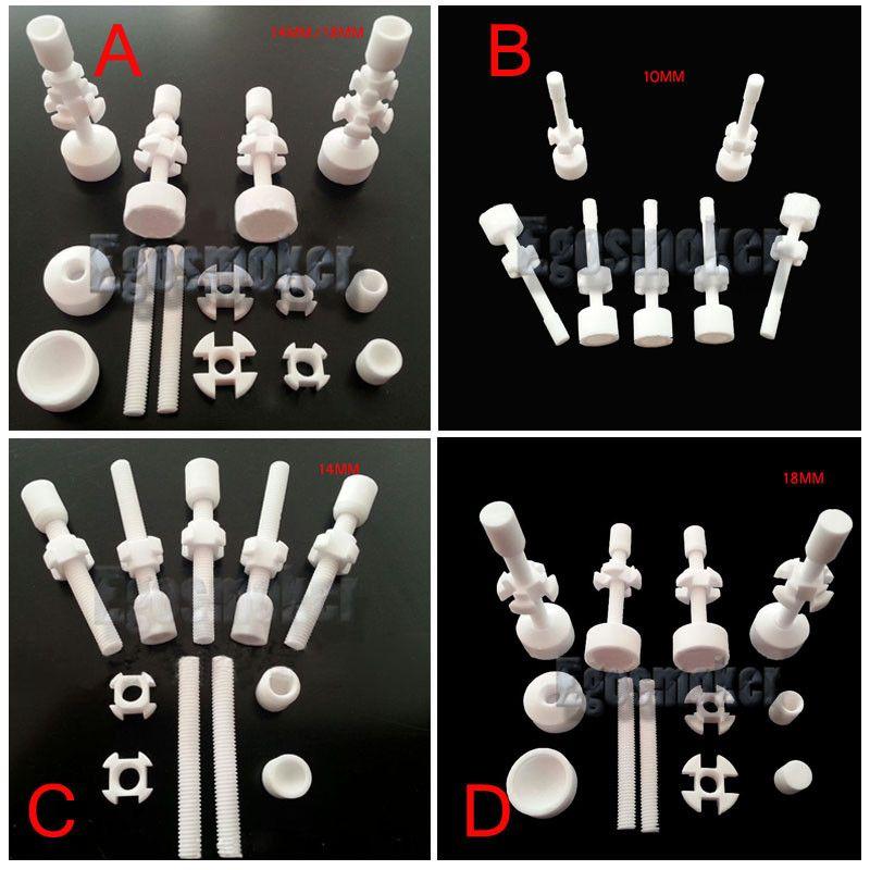 Großhandels10pcs pro Los Keramischer Nagel 10mm / 14mm / 18mm, 14mm18mm Doppelt verbundene justierbare keramische Nägel VS Titannagel-Quarznagel