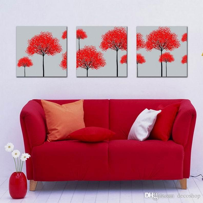 Modern Beautiful Flowers Fine Floral Painting Giclee Print On Canvas Home Decor Wall Art Set30250