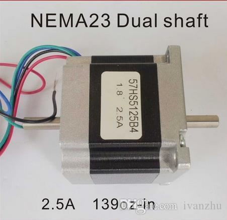 Motor paso a paso doble del eje NEMA23 de 6.35mm motor de paso a paso del CNC del CE ROHS de la longitud del cuerpo de 51oz-in de 51oz-in