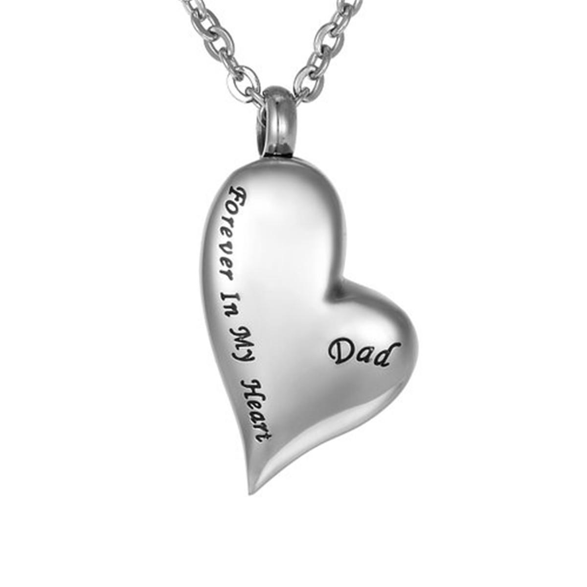 Wholesale Lily Urn Necklaces Cremation Jewelry Irregular Heart Dad Forever In My Heart Memorial Pendant Stainless Steel For Ashes With Gift Bag Lariat Necklace Personalized Necklaces From Lily Electronics 8 97 Dhgate Com
