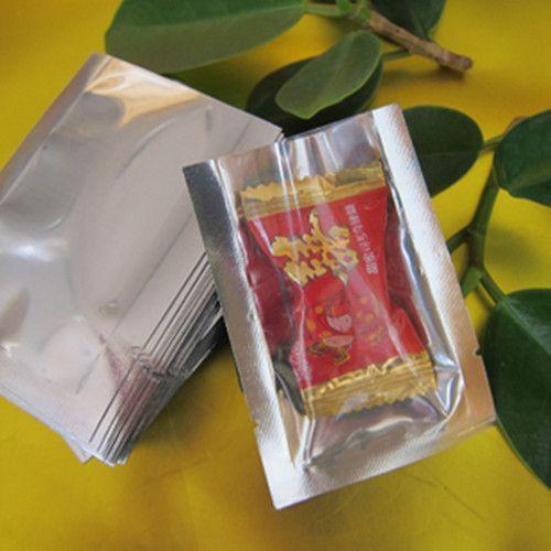 16 * 24cm Open Top Silver / Clear Aluminium Foil Sac D'emballage De Soudure À L'emballage De Stockage Alimentaire D'emballage Alimentaire Sacs Pochettes En Plastique Poly-sac