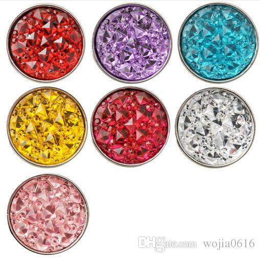 أحدث D02253 7 ألوان حجر الراين زر المفاجئة زر ل 18 ملليمتر المفاجئة زر مجوهرات صالح لسوار قلادة أقراط إلخ مجوهرات صنع