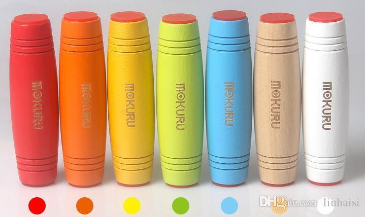 Mokuru Incrível Rollover Fidget Vara inventiva Mesa de Brinquedo De Madeira Desktop Mão Dividir Sided Flip Toy para a Coordenação da Mão-Olho Divertido