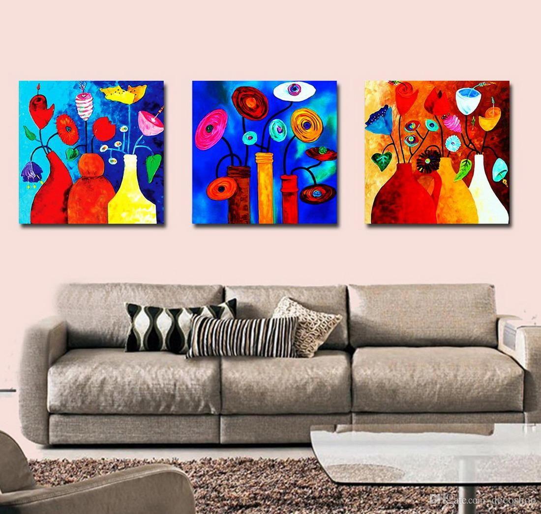 Belas Flores Abstratas Pintura Floral Giclee Impressão Na Lona Home Decor Wall Art Set30149