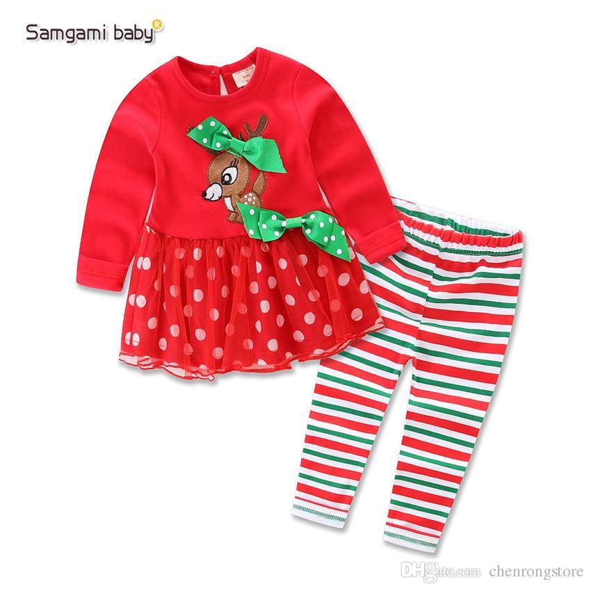 2017 Autumn Winter Baby Christmas Dress Kids Flower Cotton Clothing