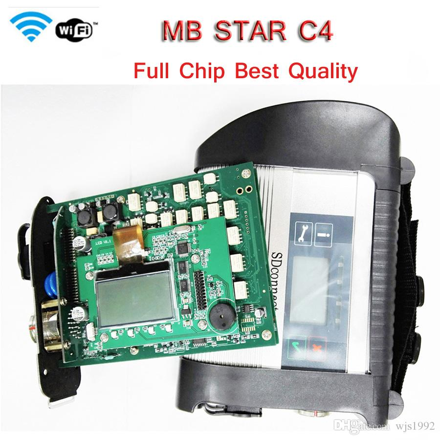 2019 top quality Diagnostic tool for Ben-z MB Star New Compact 4 support over 20 languages SD Conpact C4 with WIFI Free Shipping