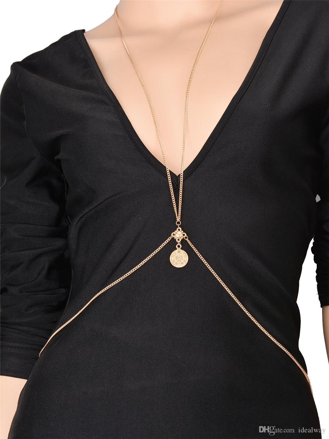 سلسلة نمط الأزياء البوهيمي الصيف الغجر بالفضة الخصر الصيف سلسلة عملة الجسم قابل للتعديل مجوهرات الجسم