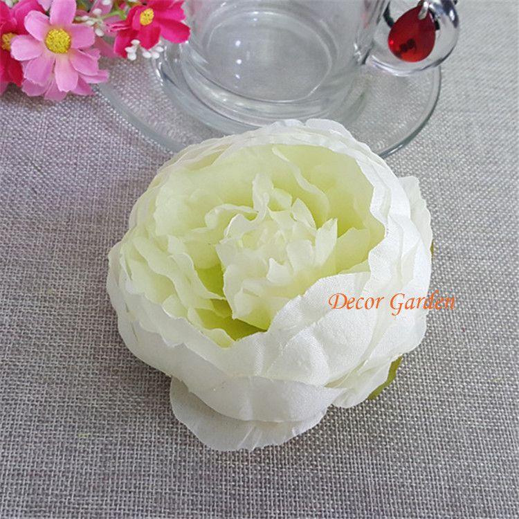 50 PCS Multi Couleur Artificielle Fleurs Têtes DIY Vivid Rose Soie Hortensia Pour La Maison De Mariage Décoration Tête De Fleur