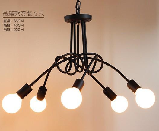 Personnalité rurale moderne créative lampes de salon contractées et lanternes La chambre du restaurant nordique a conduit à sucer un lustre sur la tête