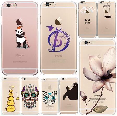 Custodie Apple IPhone 6 6s Plus 5S 5C Romantico Fiori Bellissimi Animali Telefono TPU Custodia Morbida In Silicone IPhone6 Cover Shell Da ...