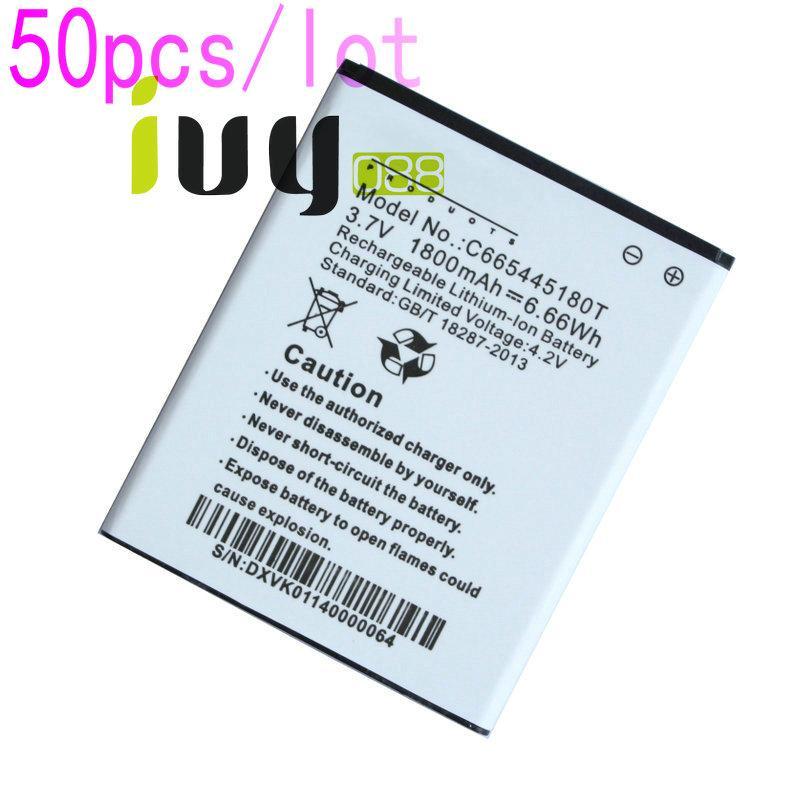 50pcs / lot 1800mAh C665445180T قابلة للشحن بطارية الليثيوم-أيون لبطاريات BATTERIA Batterij