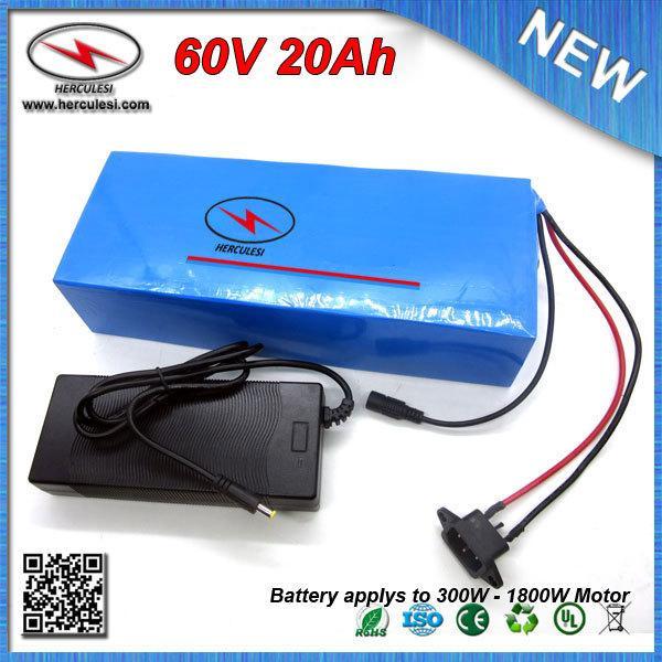 SPEDIZIONE GRATUITA (1 PZ) Batteria 1800W 60V 20Ah Ebike Batteria agli ioni di litio 18650 celle con custodia in PVC 16S 30A BMS + 67.2V 2A Caricabatterie