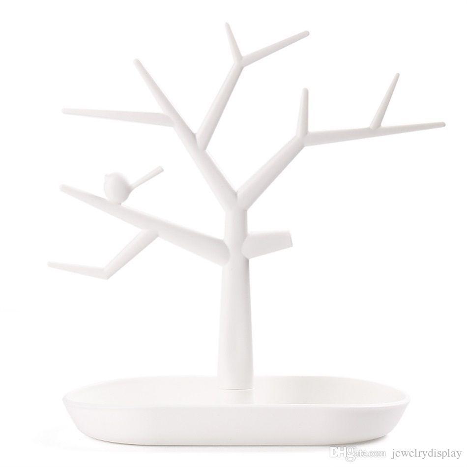 Venda Anel Jóias da árvore do pássaro Colar Brincos Display Stand Organizer Titular rack frete grátis