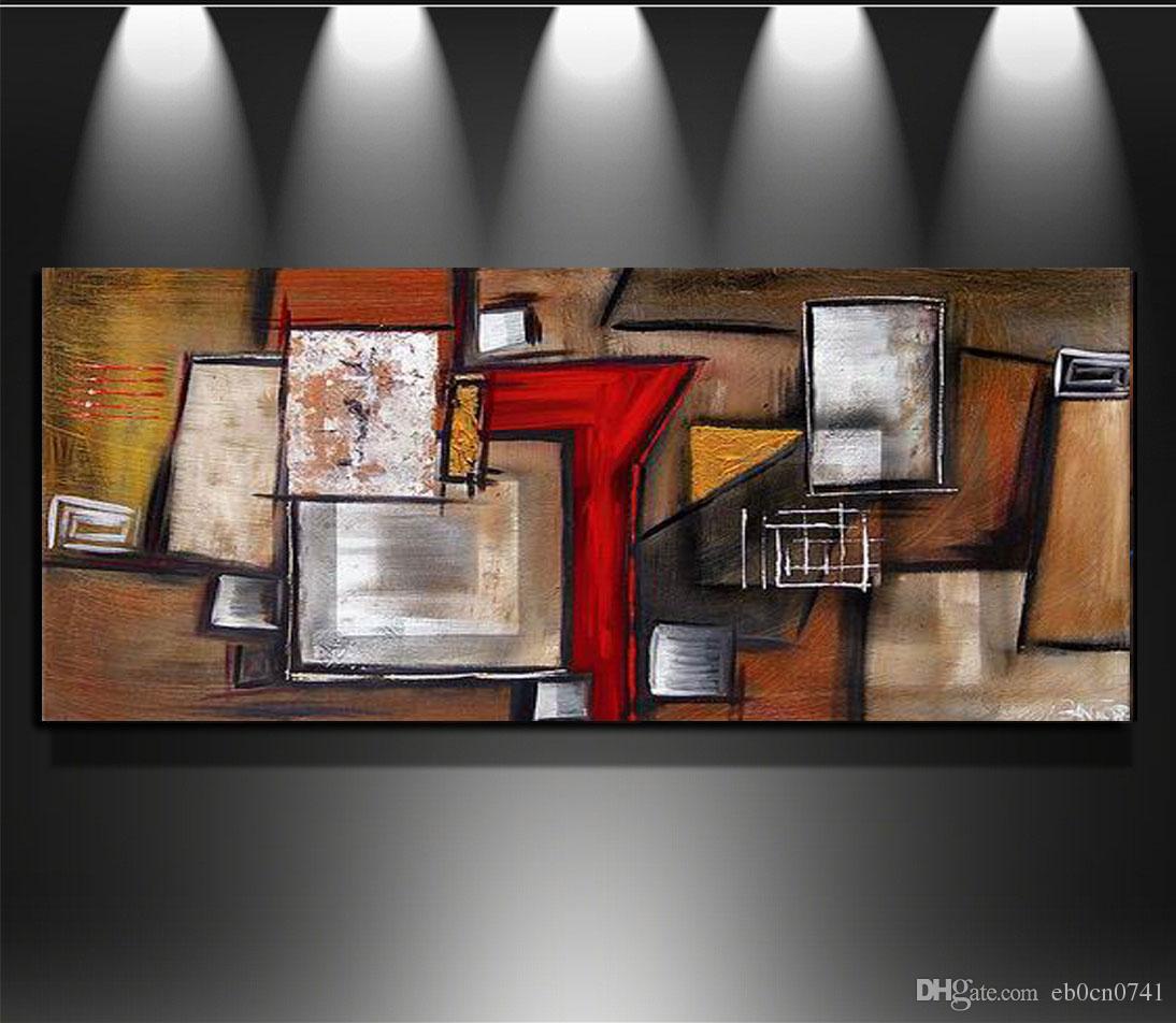Hohe Qualität Single Zauber Hand gemalte abstrakte Leinwand Wandkunst Ölgemälde Leinwand Bäume Wand Dekor Gemälde