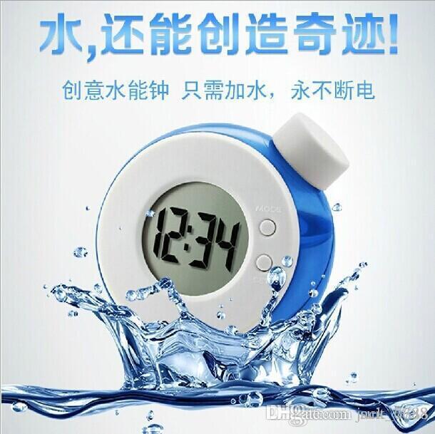 fabbrica libera di trasporto sellinCreative acqua orologio acqua orologio acqua elemento magico potere intelligente sveglia acqua creativa creativa elettronica