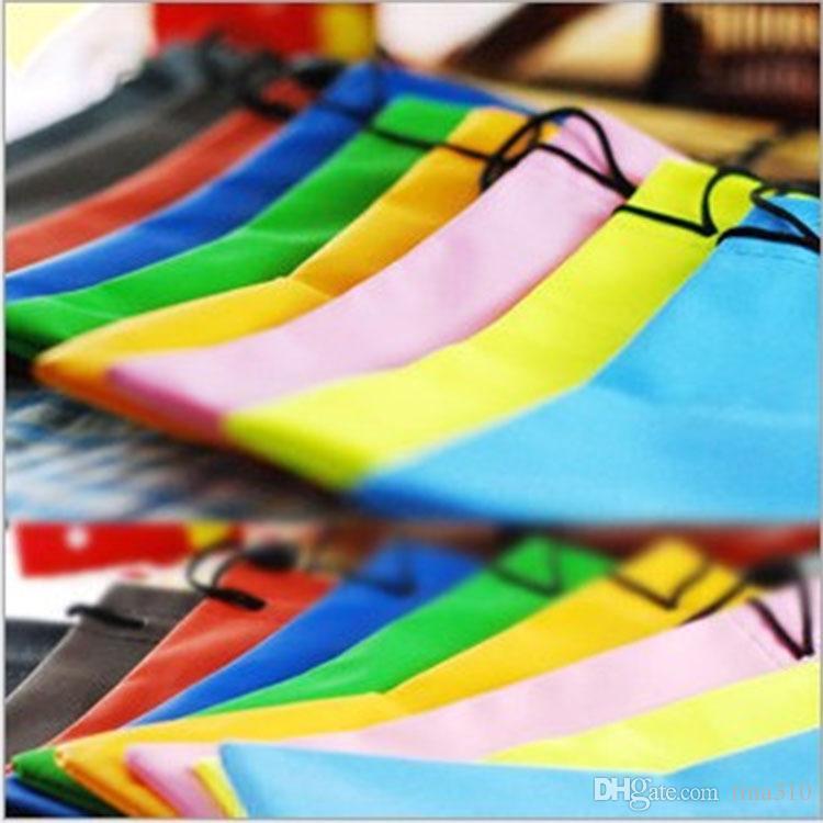 4000pcs High Quality Candy Color Plastic Sunglasses Pouch Soft Eyeglasses Bag Glasses Phone bags Drawstring Sunglasses Cases 2941