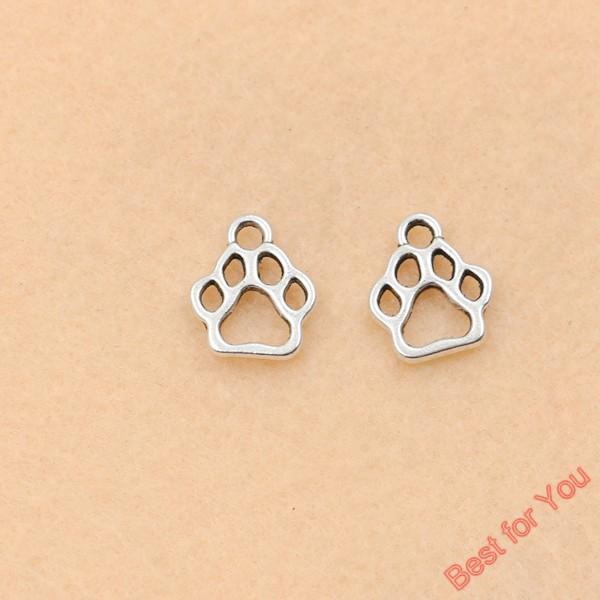 100 pcs tibetano tom de prata urso pata encantos moda pingentes jóias fazendo descobertas jóias diy 13x11mm fazer jóias