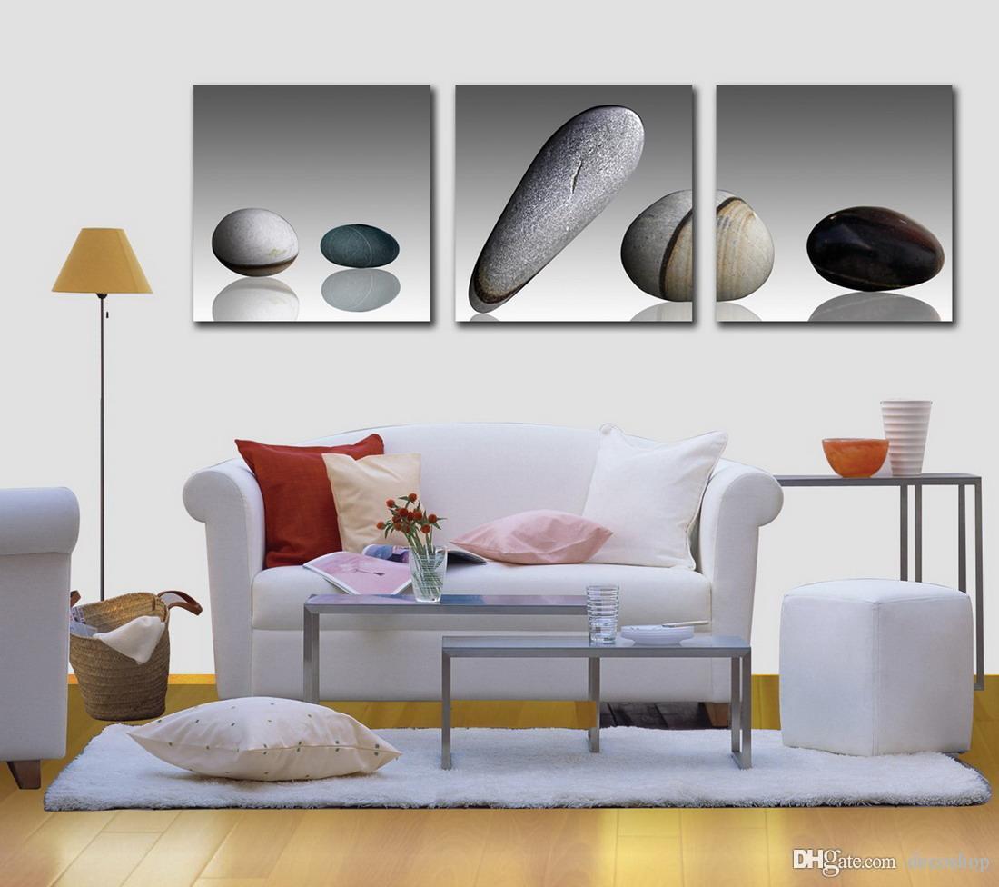 Contemporânea Bela Pedra Imagem Giclee Impressão Na Lona Home Decor Wall Art Set30203