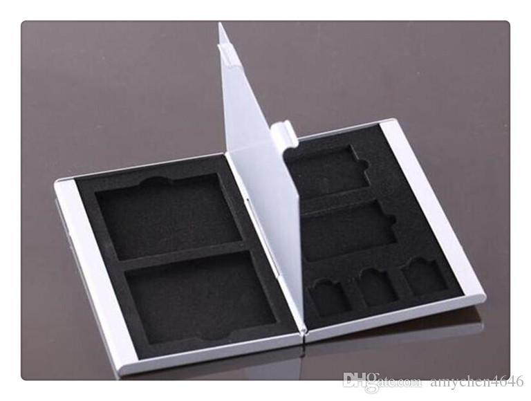DHL Metal Aluminum 2GB/4GB/8GB TF/SDMemory Card Storage Box Protecter Case Holder