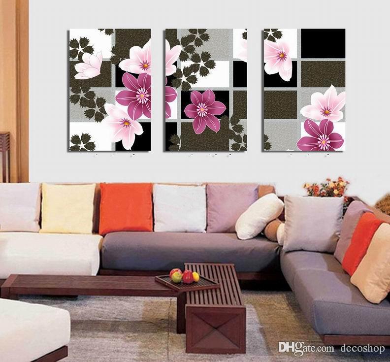 현대 아름다운 꽃 좋은 꽃 그림 캔버스에 Giclee 인쇄 홈 장식 벽 예술 Set30371