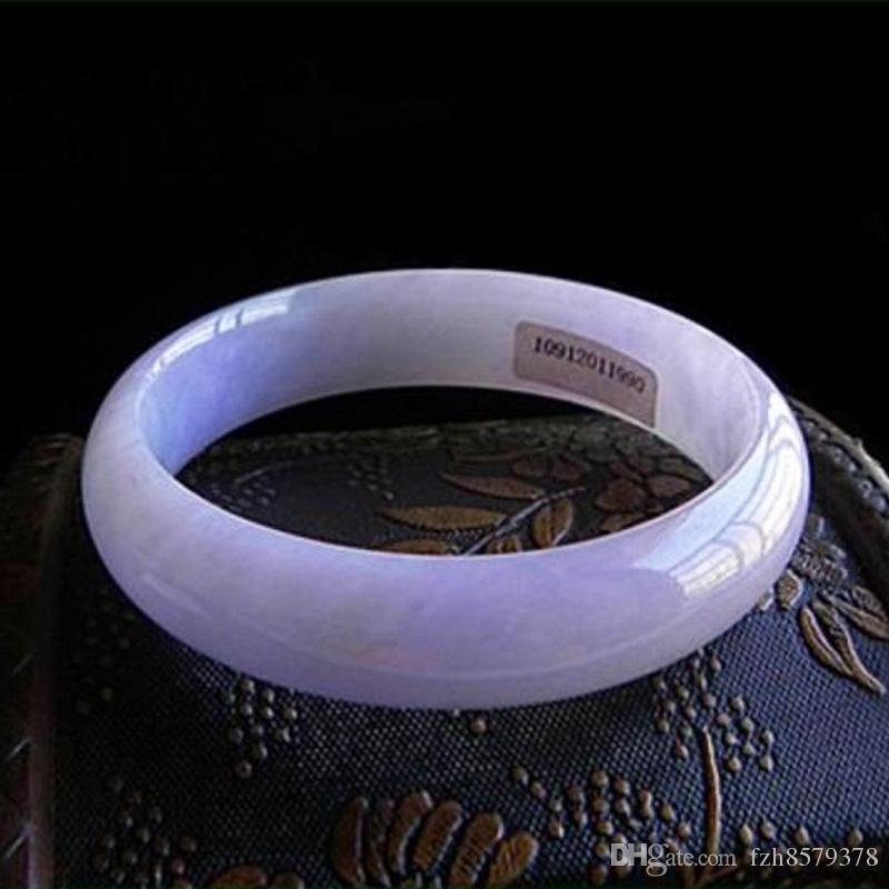 Voielt Jadeite Bangle Light Purple Jade Bracelet جديد الصين التقليدية ميانمار الجليد نوع شمعي للنساء 80976005024