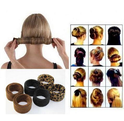 Geeignet für alle Haartypen 1pcs Mode Haarband Haarnadel Hairagami Bun Tail Hairagami Fashion Black Leopard Frauen Styling-Tools
