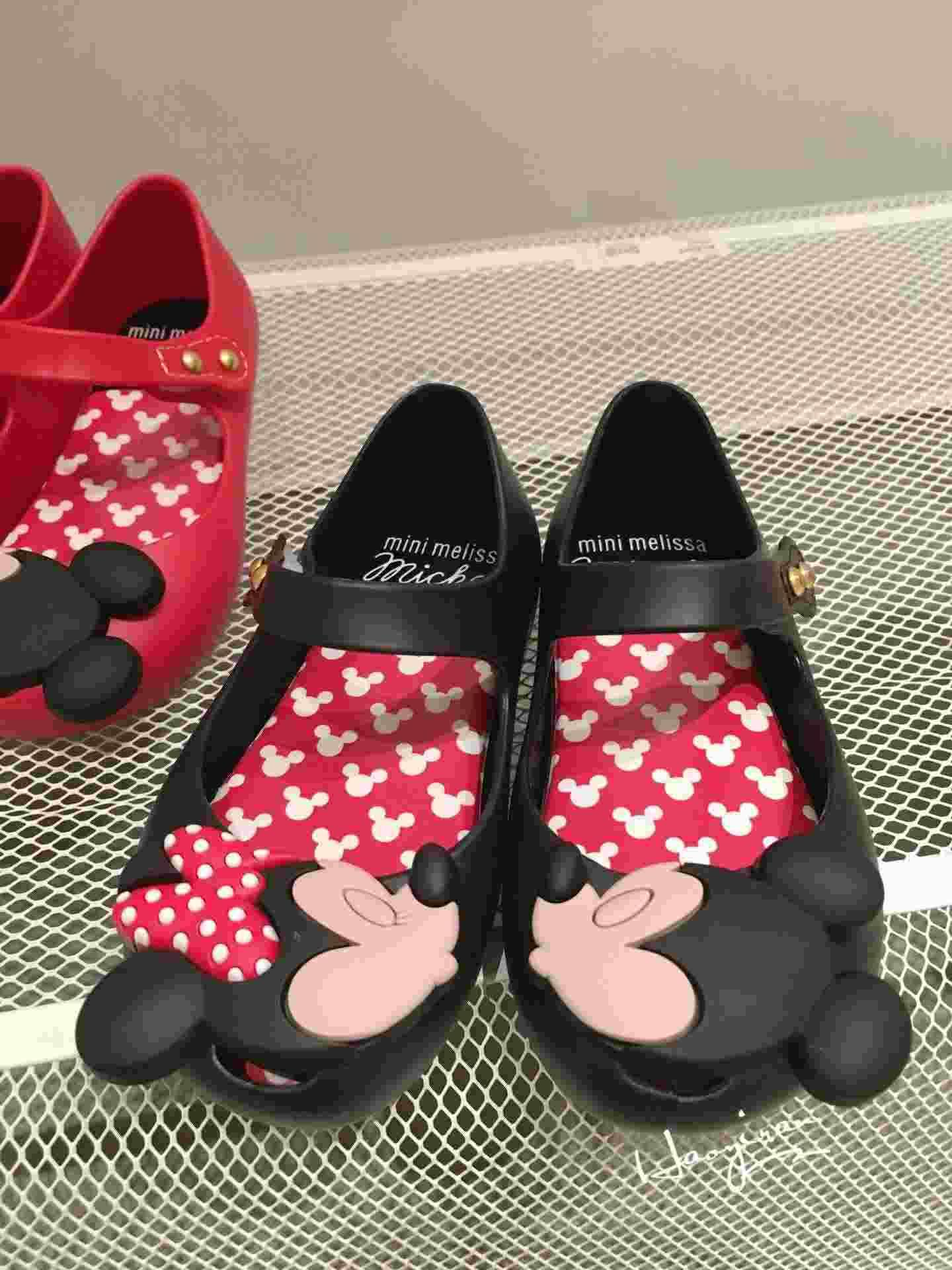 Lovely Mickey & Minnie Bow Mini Melissa Sandals For Girls Brazil