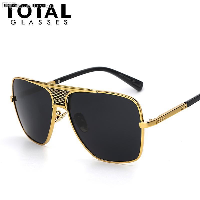 الجملة-Totalglasses الرجال نظارات أحدث خمر المتضخم إطار حملق الصيف نمط العلامة التجارية مصمم النظارات oculos دي سول uv400