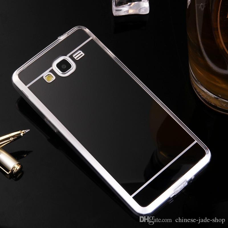 Ayna Vaka Elektroliz Krom Yumuşak TPU Kılıf Kapak IÇIN IPHONE XR XS XS MAX 6 7 8 ARTı Galaxy S8 S8 ARTı S7 KENAR s9 s9 artı J4 2018 300 ADET