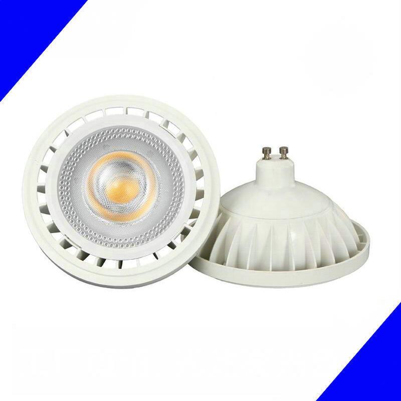 LED AR111 LEDスポットライト15W COB調光対応LED AR111、ES111、QR111、フルアルミニウム、GU10 / G53オプション、12VDCまたはAC85-265V AR111ライトランプ