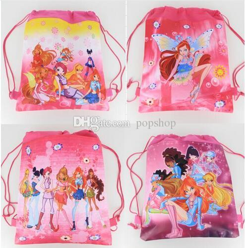 New Style !96pcs Winx Club fashion backpack popular schools bags good quality canvas cartoon kids backpack Free Shipping