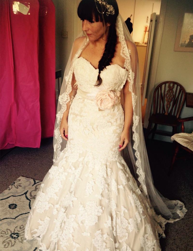Весна романтическая русалка плюс размер свадебные платья милая цветочный пояс полное кружевное длина полов свадебные платья на заказ