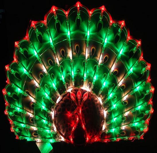 Nouvel An Lanterne Nouvel An décoration mariage mariage chambre mise en page fenêtre décoratif paon LED vacances jardin pelouse lumières