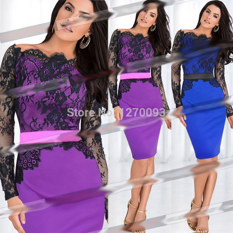 Women Summer Dress 2016 New Fashion Belted Celebrity Lace Crochet Splice Tunic Bodycon Party Evening Elegant Pencil Sheath Dress
