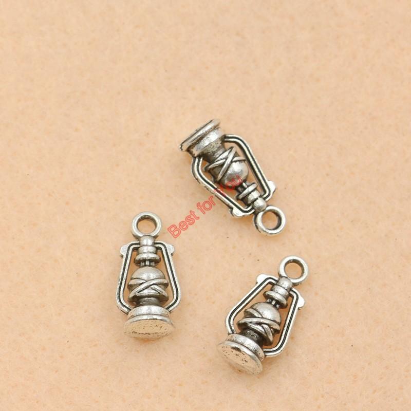 80pcs tibetanisches Silber überzogene Lampen-Charme-Art- und Weiseanhänger für die Schmucksachen, die die DIY Schmucksache-Entdeckungen 16x8mm bilden