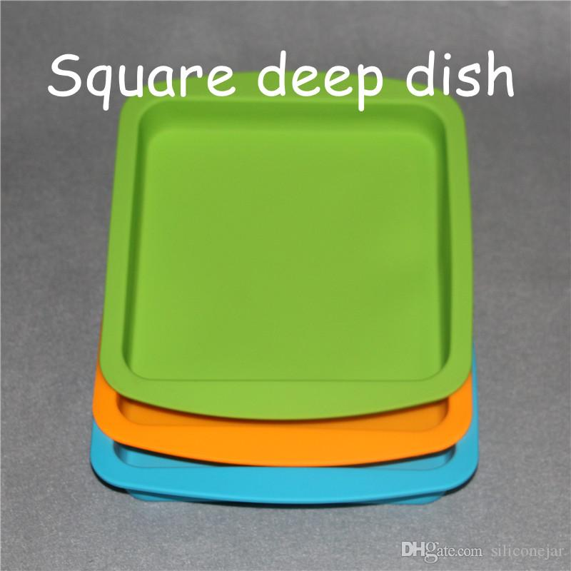 8 * 8inch 실리콘 매트 왁스 항아리 저장 상자 비특이적 인 패드 스틱 부서진 증거 dabber 도구 Dab Bho Boane 오일 진공 챔버 탈기 요리